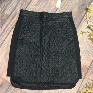 NWT Anthropologie Six Crisp Days Leather Skirt